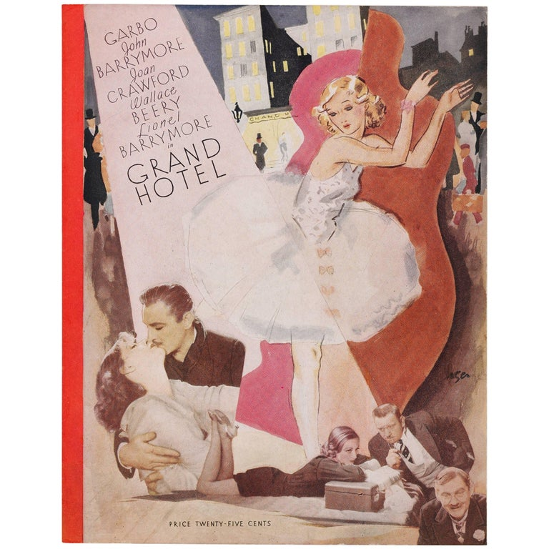"""Grand Hotel"" Original American Program Cover"