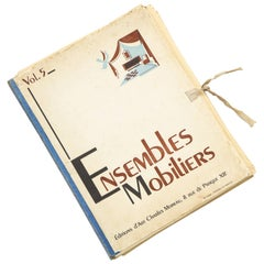 Ensembles Mobiliers, Charles Moreau Editor Deco Book, 1930s-1940s, France