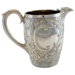 Antique Victorian Silver Water Jug by Martin, Hall & Co., Sheffield 1891