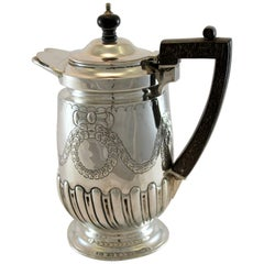 Antique Victorian Silver Water Jug by Hawksworth, Eyre & Co Ltd, London, 1899