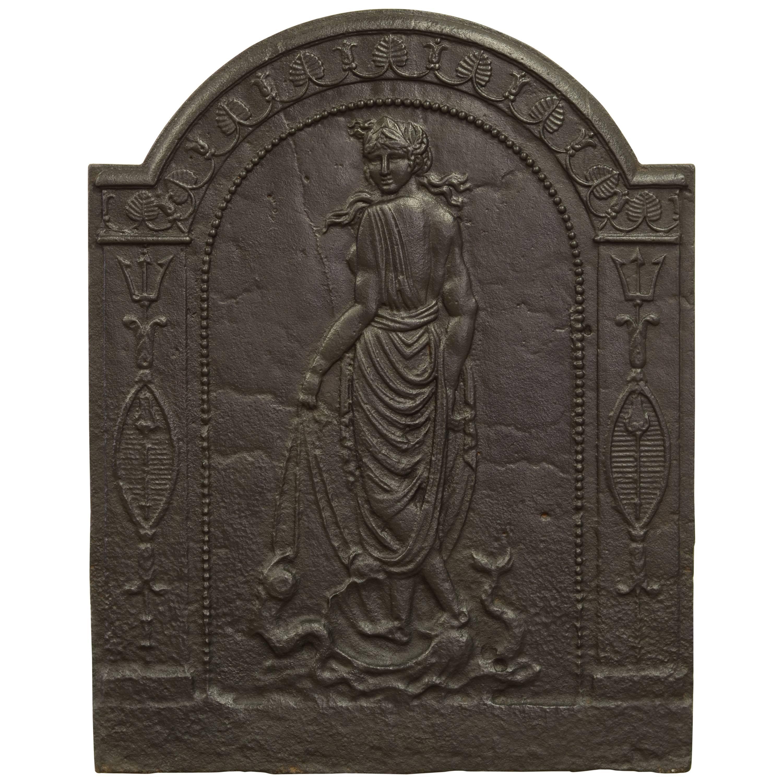 Antique Fireback Displaying Venus, Goddess of Love Beauty and Fertility