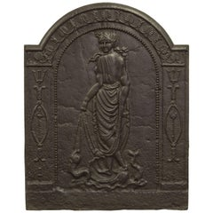 Antique Fireback Displaying Venus, Goddess of Love Beauty and Fertility