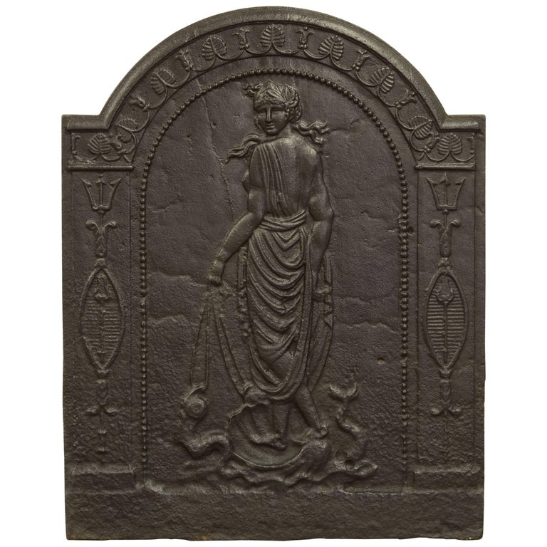 Antique Fireback Displaying Venus, Goddess of Love Beauty and Fertility For Sale