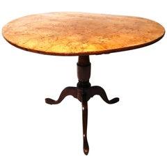 Continental Burl Tilt-Top Centre Table, circa 1830-1840