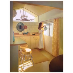 Giclee Print by Listed Artist Carrie Graber Palm Springs Modern Architecture