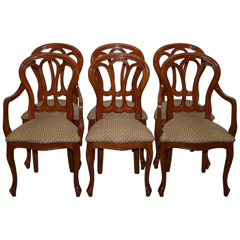 Grange Handmade France Cherrywood Extending Dining Table and Six Chairs