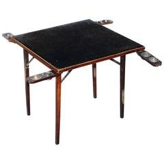 Lovely Vintage Edwardian Folding Card Table Fully Stamped Registered x Trademark