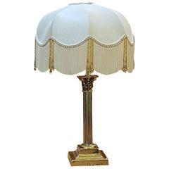 Edwardian Brass Table Lamp