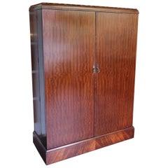 Art Deco Mahogany Compactom Wardrobe