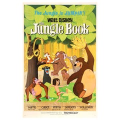 Original Vintage Walt Disney Movie Poster for The Family Classic The Jungle Book