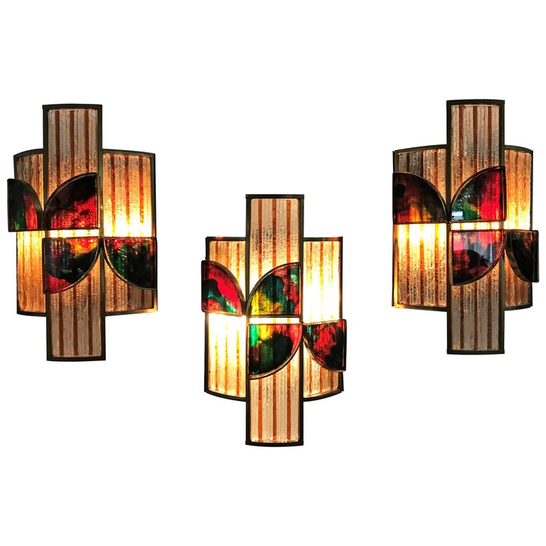 set of 10 Mid-Century Modern Sconces by Poliarte, Italy, circa 1960 For Sale