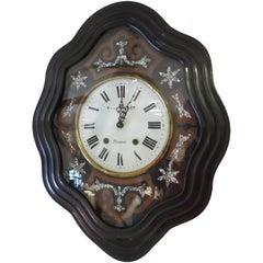 Napoleon III Wall Clock Case with Quartz Movement