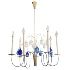 Eight-Armed Chandelier or Pendant Lamp by Vereinigte Werkstätten, Germany, 1950s