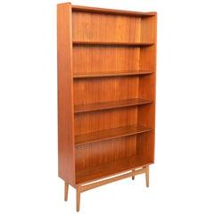 Danish Modern Teak and Oak Bookcase by Bornholm