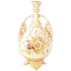 1888 Royal Worcester Porcelain Stem Vase
