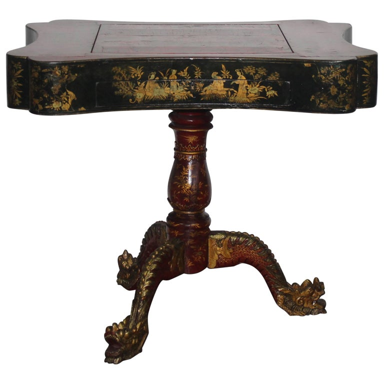 19th Century Chinoiserie Game Table For Sale