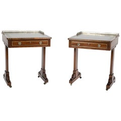 Pair of English Regency Period Rosewood Writing Tables