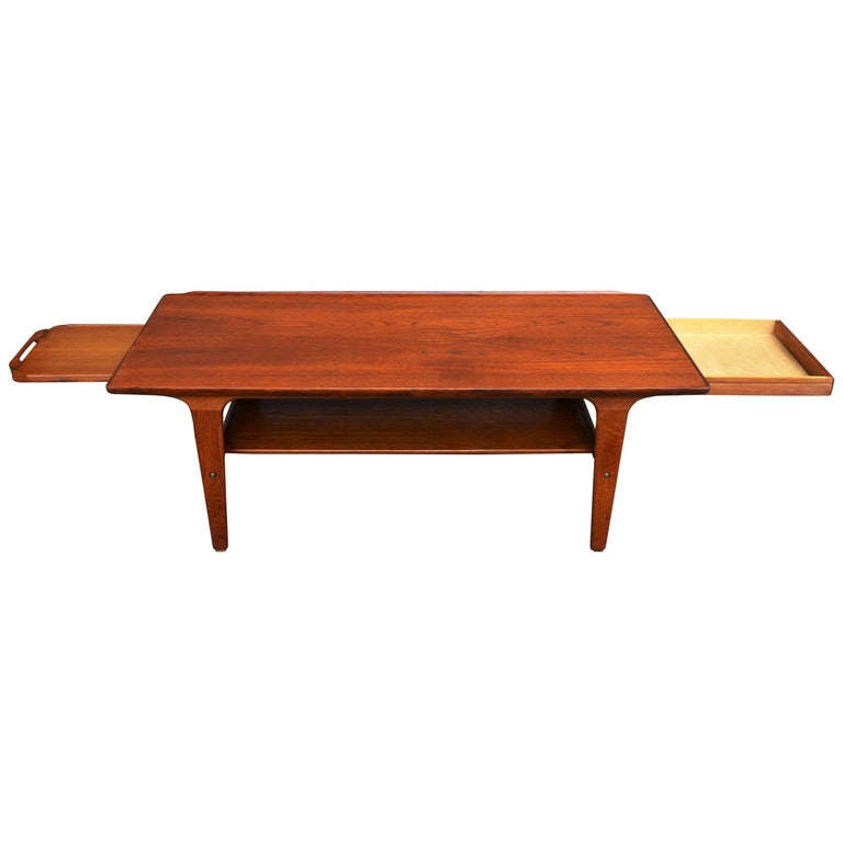 Sculpted Teak Oval Tray Coffee Table For Sale At 1stdibs