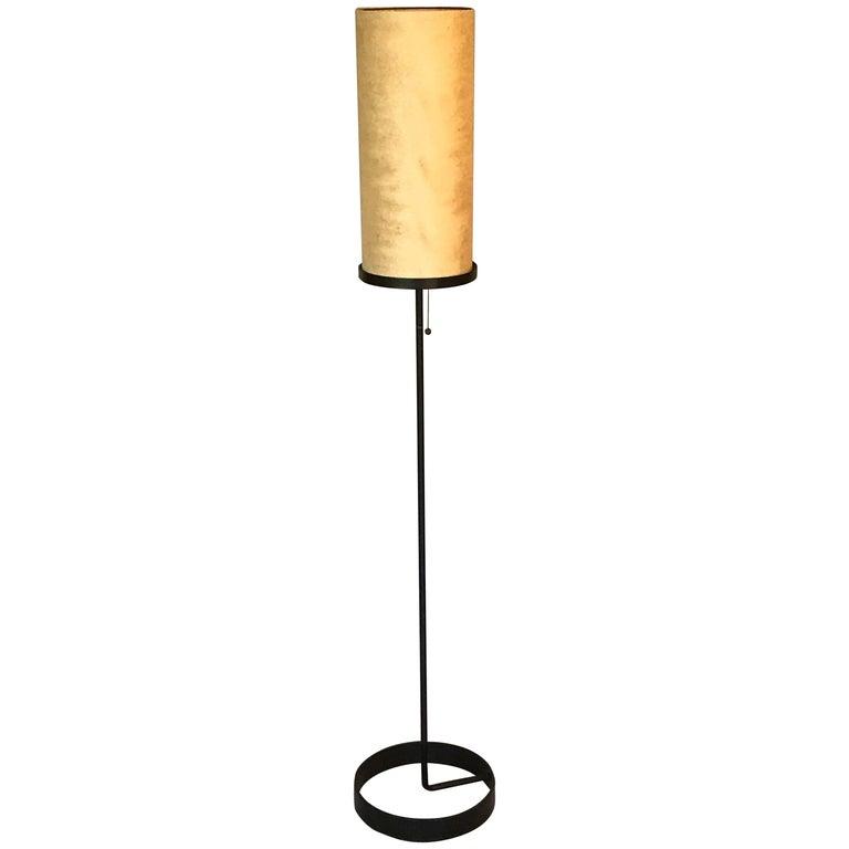 Ben Seibel Architectural Iron Lamp, 1950s