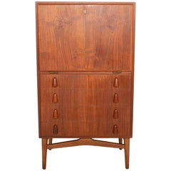 Danish Modern Midcentury Dry Bar Dresser Cabinet in Teak