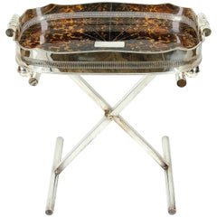 Mid-20th Century English Silver Plated Table Tray Stand