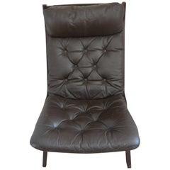Folding Leather Chair Erkones, Norway