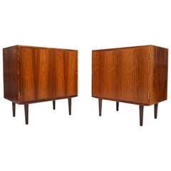 Pair of Carlo Jensen for Poul Hundevad Rosewood Nightstands