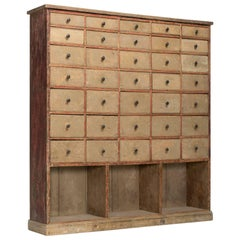 Bank of Drawers in Original Paint, circa 1880