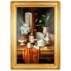 Beautiful Wood Framed, Mid-20th Century Decorative Art