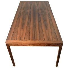 Rosewood Coffee Table, Scandinavian Design 1960s