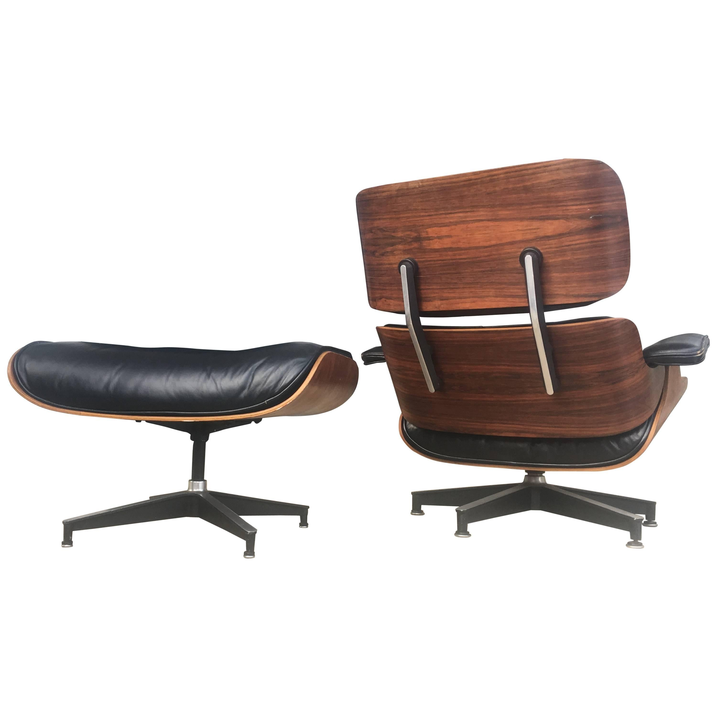 Early Herman Miller Eames Lounge Chair And Ottoman For Sale