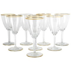 Mid-20th Century Baccarat Crystal Wine Glassware Set