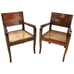 Pair of Mid-20th Century Mahogany Armchairs