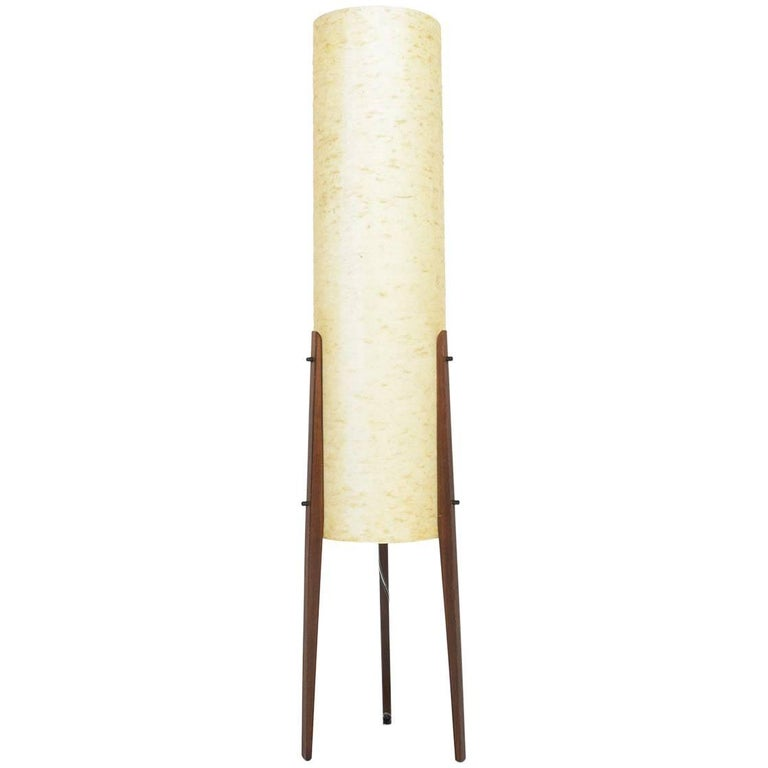 Italian Modern Midcentury Fiberglass Tripod Floor Lamp