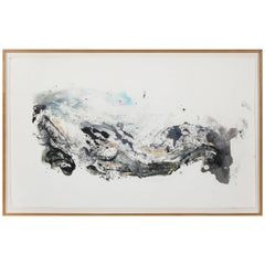 Louesa Roebuck Framed Monotype Ink Abstract