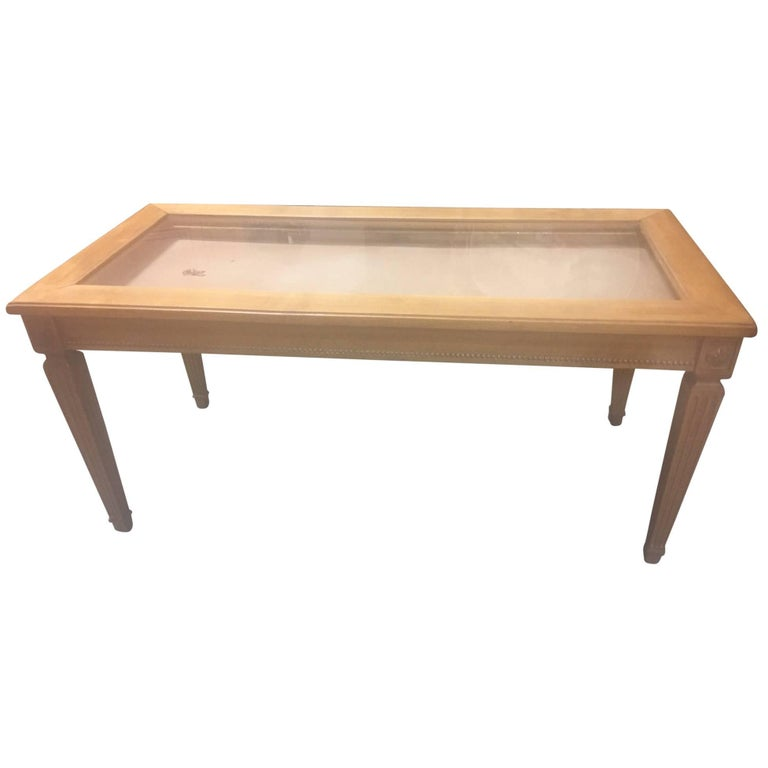 1910 jewelry table top display case or showcase with three for Showcase coffee table
