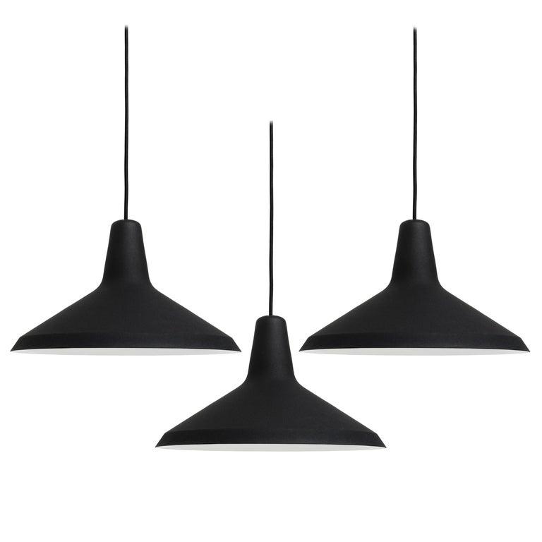 Greta Magnusson Grossman 'G-10' Pendant Lamp in Black For Sale