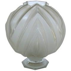 French Art Deco Sabino Glass Vase