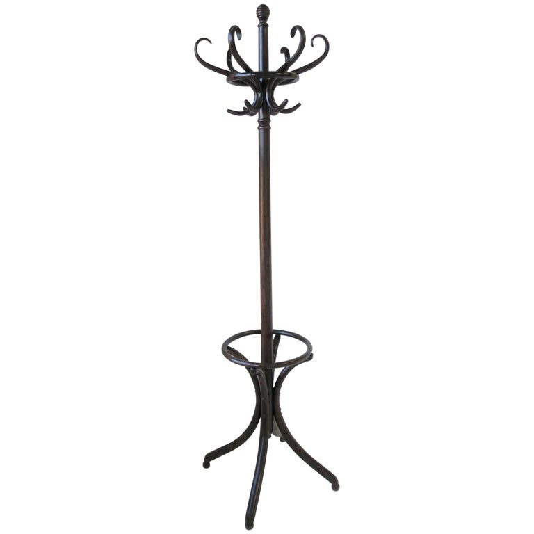 Midcentury Bentwood Hall Tree or Coat Rack in the Style of Thonet
