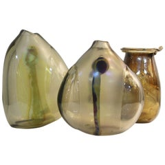 Three Glass Vases by Fritz