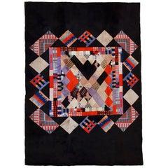 Handmade Vintage Tibetan Khaden Modern Rug, 1980s