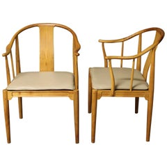 Pair of Hans Wegner Chinese Chairs for Fritz Hansen