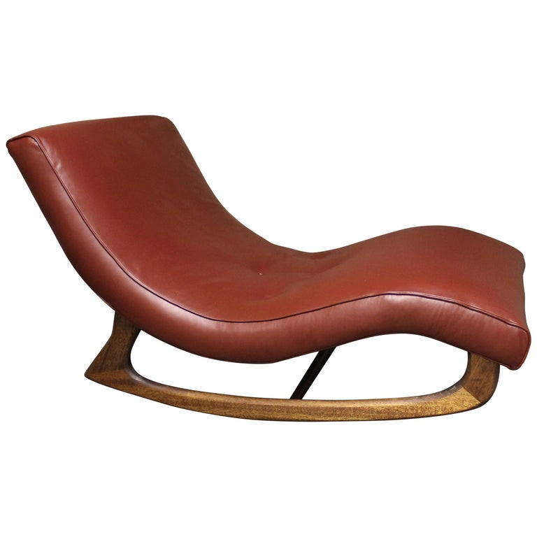 Adrian Pearsall Wave Rocking Chair in Leather