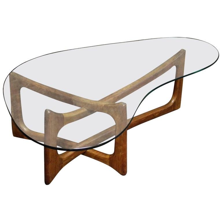 Adrian Pearsall Sculptural Walnut Dog Bone Coffee Table