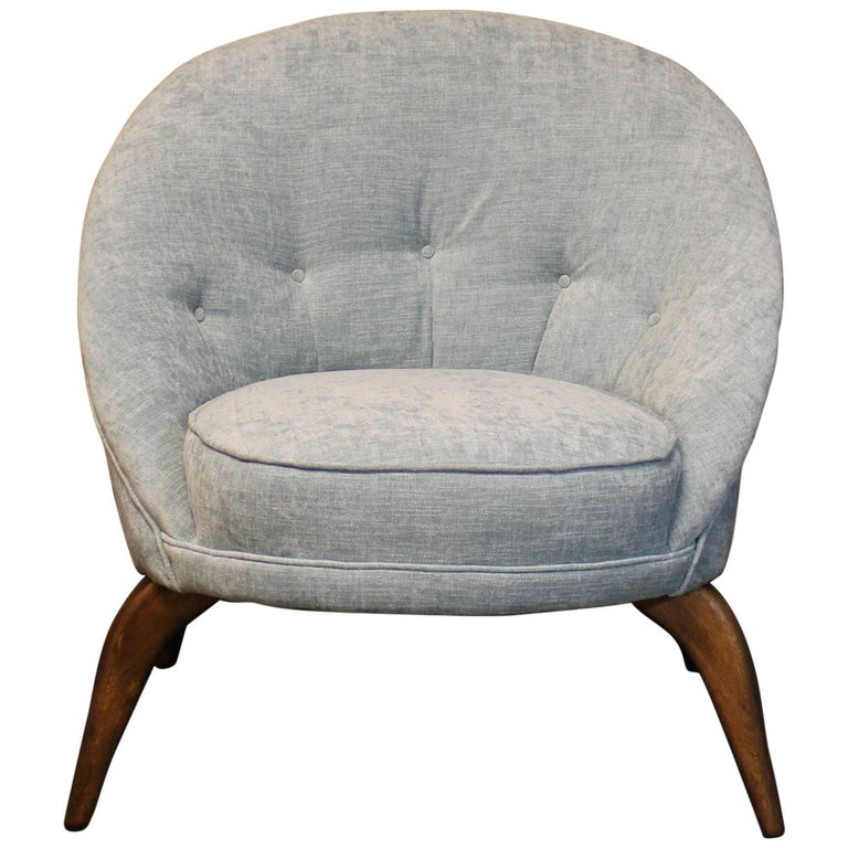 Mid-Century Modern Spider Leg Club Chair in the Style of Jean Royère