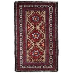 Handmade Vintage Afghan Ersari Rug, 1940s