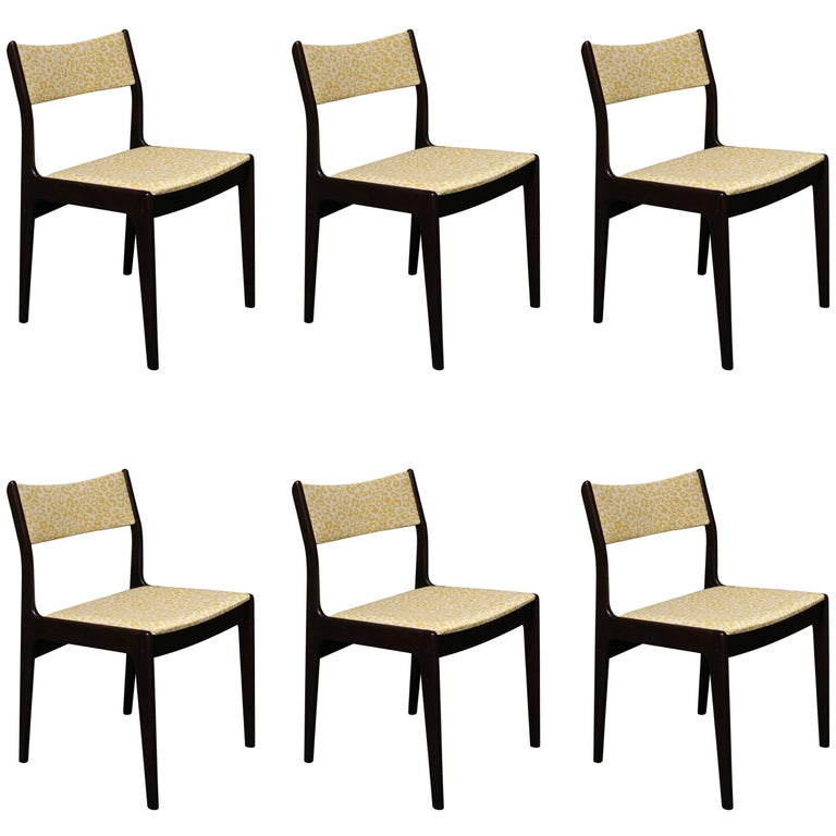 Six Johannes Andersen Danish Teak Dining Room Chairs for Uldum Mobelfabrik