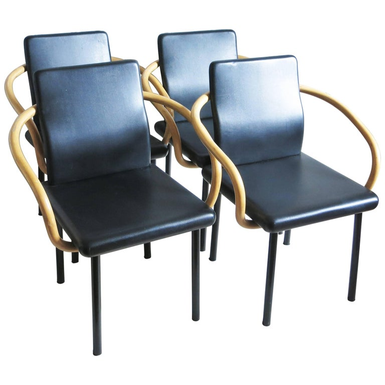 Set of Four Chairs Mandarin by Ettore Sottsass for Knoll