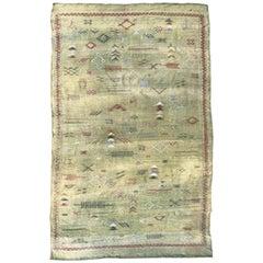 Nice Vintage North African Silk Weave Rug