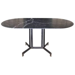 Ignazio Gardella for Azucena, Dining Table in Black Marquinia Marble, 1950